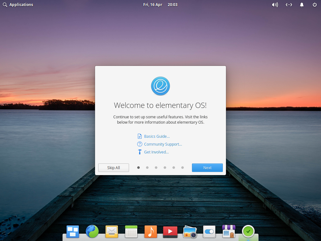 Elementary OS Desktop Screen